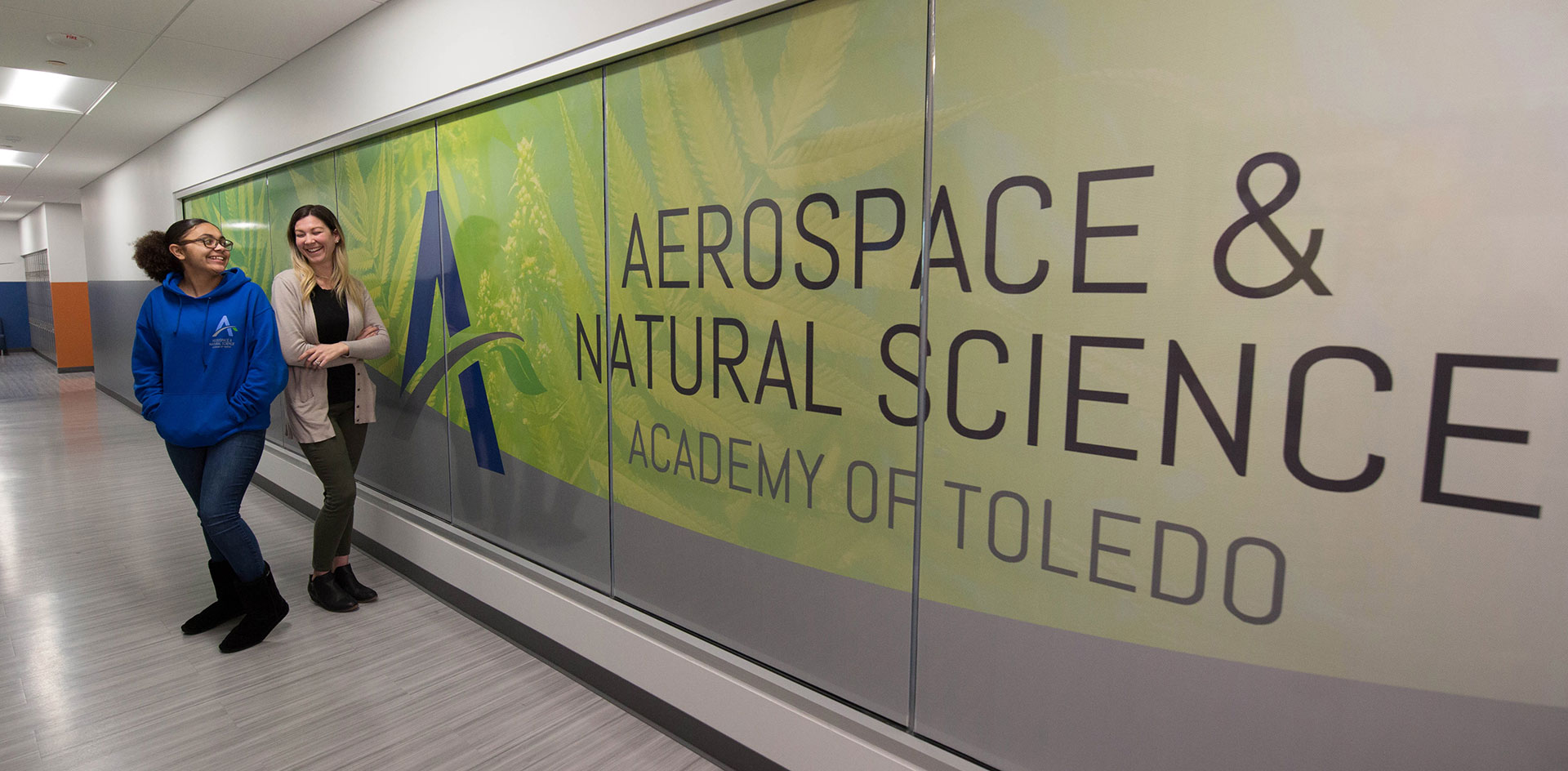Aerospace & Natural Science Academy of Toledo graphic wall