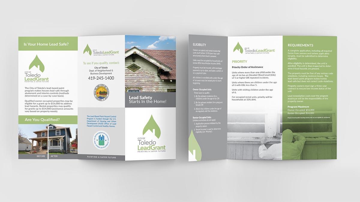 City of Toledo Lead Grant Tri-fold Brochure