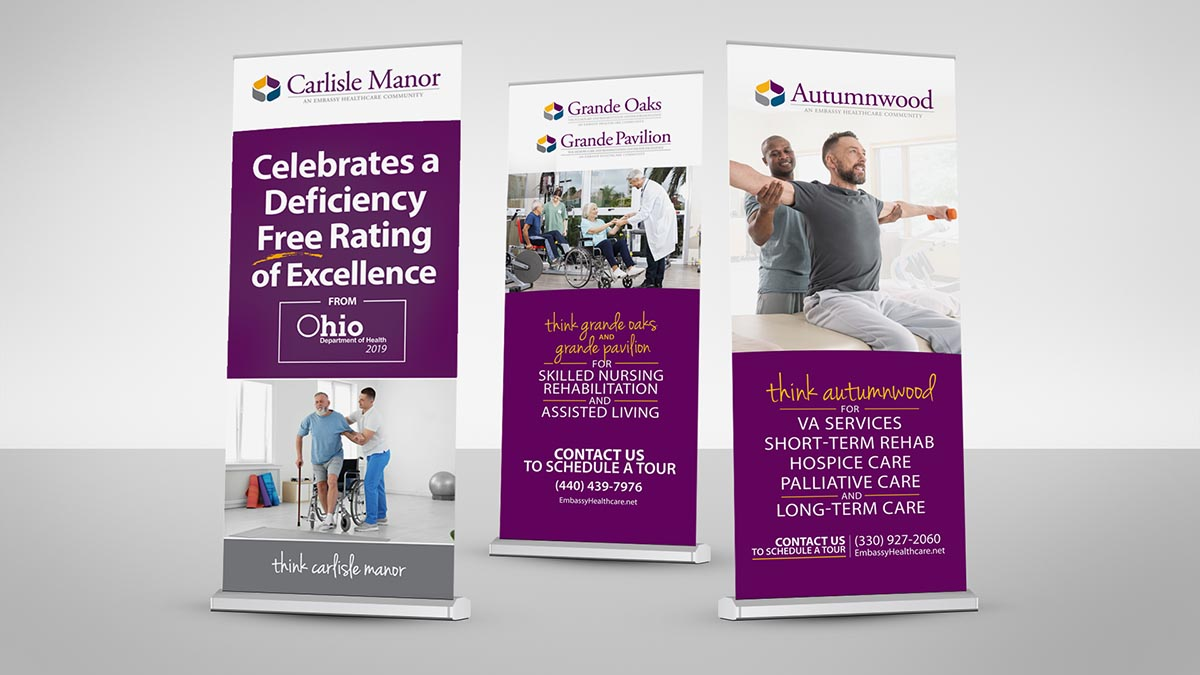 Embassy Healthcare Facility Display Banners