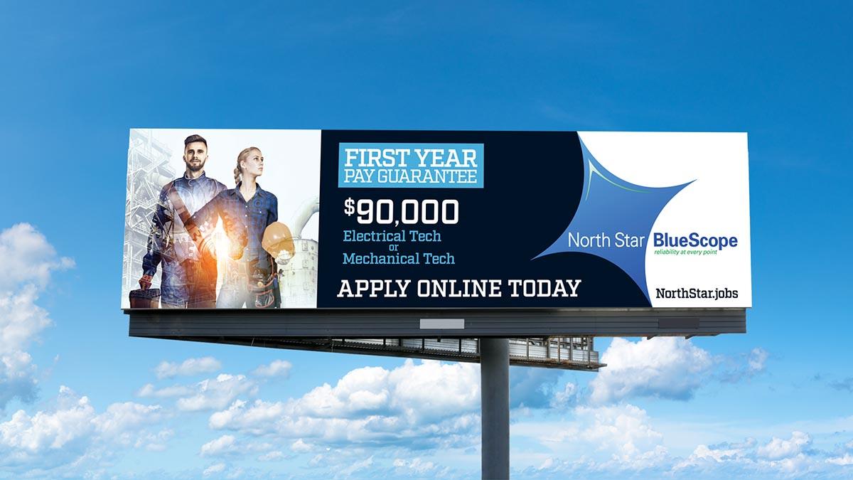 North Star BlueScope Billboard
