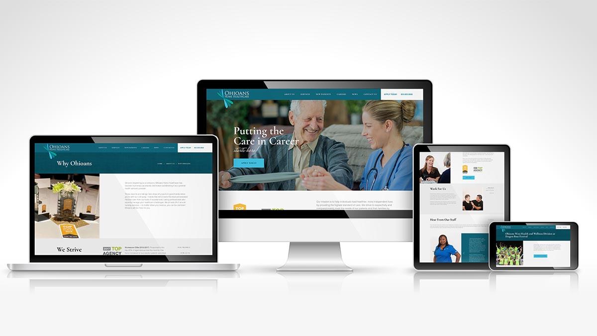 Ohioans Home Healthcare Website Design