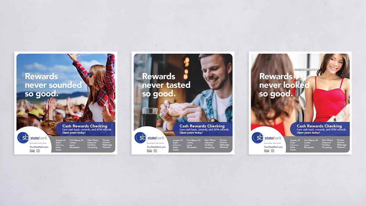 State Bank Cash Rewards Checking Ads