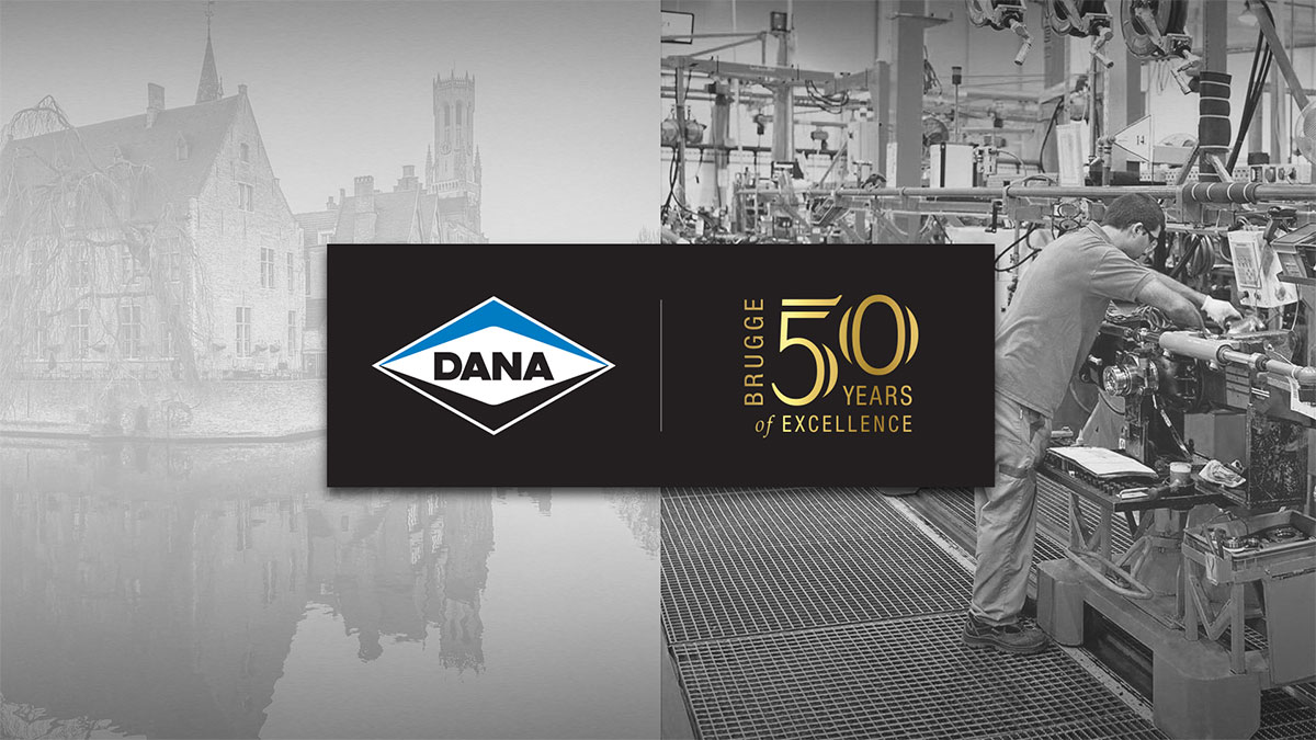 Dana Incorporated Brugge 50 years logo