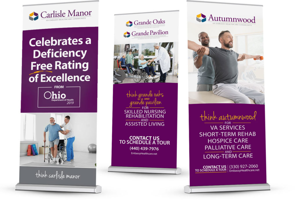 Embassy Healthcare Facility Banner Displays