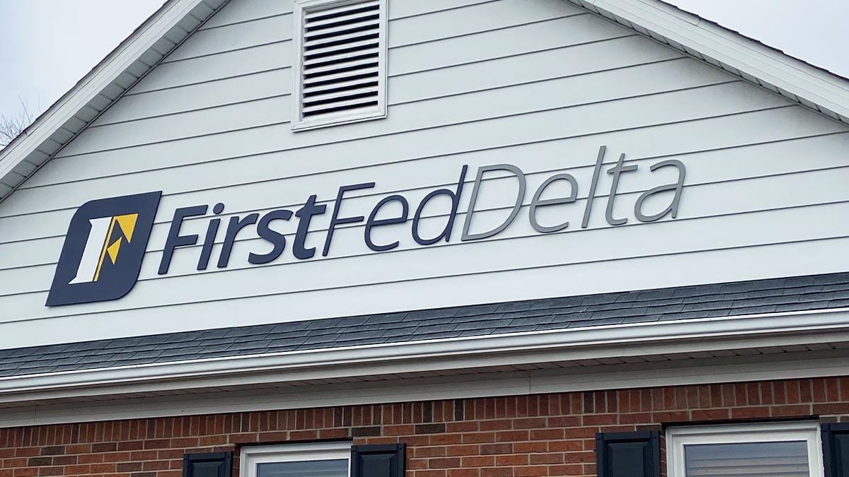 FirstFedDelta Signage