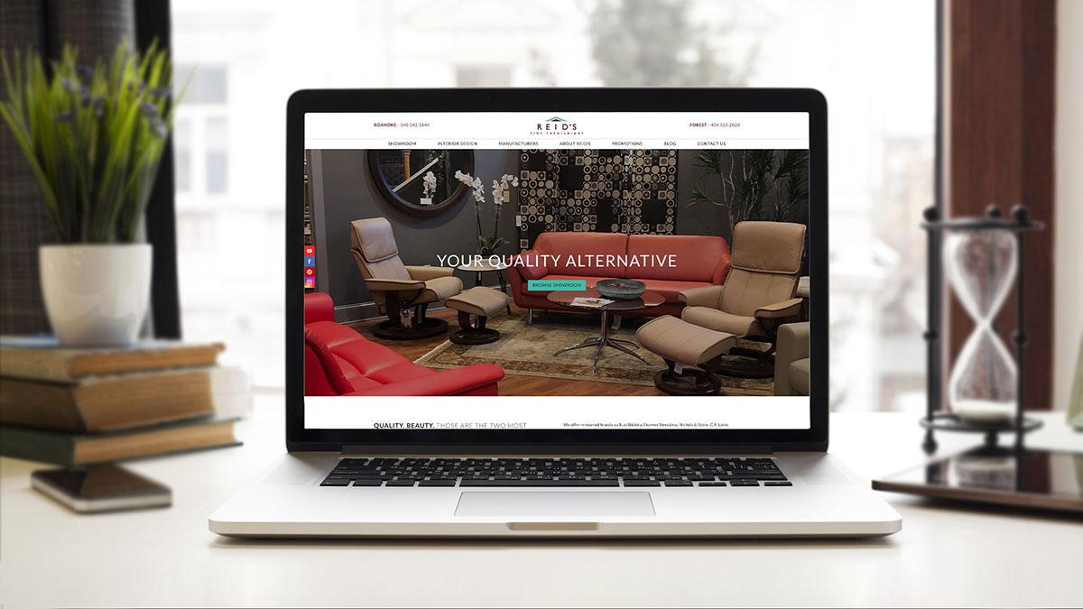 Reids Fine Furnishings Website Design