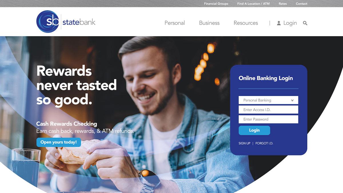 State Bank Website Design
